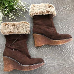 Lower East Side Boots  Wedge Women Size 61/2